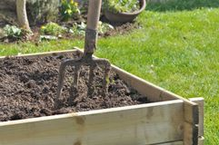 Planter for vegetable garden Stock Images