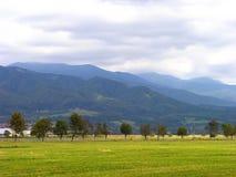 spadek krajobrazowa mglista gór tatra dolina Obrazy Royalty Free