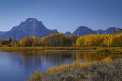 Spadek na pokazie w Uroczystym Tetons Zdjęcie Royalty Free