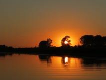 Spadek nad małą rzeką Obraz Royalty Free