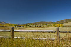 spadek rancho krajobrazowy halny Obrazy Stock