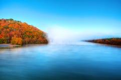 Spadek Rzeczna mgła Fotografia Royalty Free