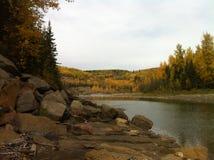 Spadek rzeki krajobraz Obraz Stock