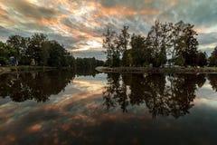 Spadek rzeki odbicie Fotografia Royalty Free