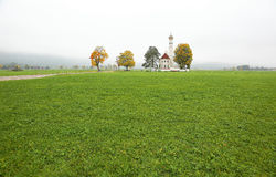 Spadek sceneria Bawarska wieś w Schwangau, Niemcy Zdjęcia Royalty Free