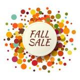Spadek sprzedaży promo etykietka Jesienny confetti szablon dla sztandaru, plakat, świadectwo Wektorowa ilustracja EPS10 royalty ilustracja