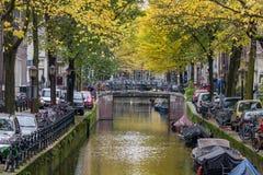Spadek w Amsterdam Obraz Stock