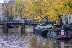 Spadek w Amsterdam Zdjęcia Royalty Free
