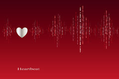 Spadek w miłość kierowych rytmów kardiograma projekcie Obrazy Royalty Free