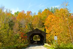 Spadek w Vermont Zdjęcia Royalty Free