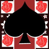 Spades on abstract background Royalty Free Stock Photos