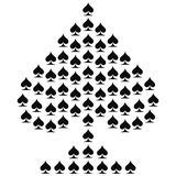 Spades. Card suit icon vector, playing cards symbols vector stock illustration