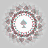 Spades 3d background Royalty Free Stock Photos