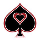 Spades with heart. Royalty Free Stock Photos