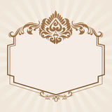 Spades Ornament Frame Royalty Free Stock Photo
