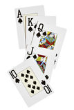 Spades royal flush Royalty Free Stock Images