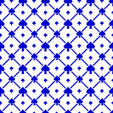 Spades Seamless Pattern Royalty Free Stock Photography