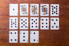 Spades Set of playing cards Royalty Free Stock Photos