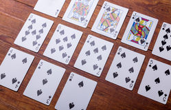 Spades Set of playing cards Royalty Free Stock Photography