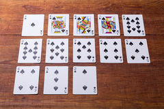 Spades Set of playing cards Stock Photo