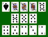 Spades Suit Of Cards Stock Photos