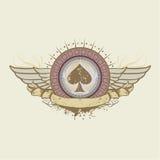 Spades suit emblem. Vector illustration on a gambling subject. spades suit emblem Stock Images