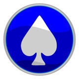 Spades suit icon Stock Images