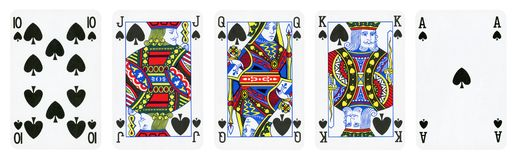 Spades Suit Playing Cards royalty free stock photography