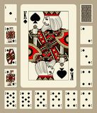 Spades suit playing cards Royalty Free Stock Image