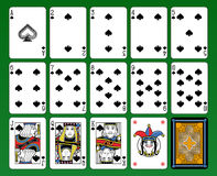 Spades Suite Royalty Free Stock Image