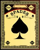 Spades Vintage Poster Stock Photography