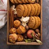 Spadków ciastka w pudełku Obraz Royalty Free
