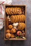 Spadków ciastka w pudełku Zdjęcie Stock