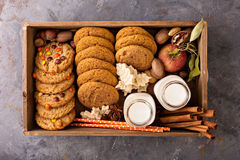 Spadków ciastka w pudełku Zdjęcie Royalty Free