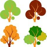Spadków drzewa, jesieni drzewa, Drzewni wektory Obraz Royalty Free