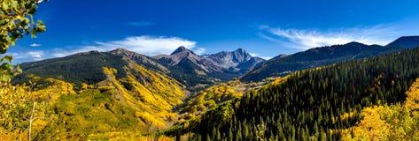 Spadków kolory w Kolorado górach Obrazy Royalty Free