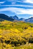 Spadków kolory w Kolorado górach Zdjęcie Stock