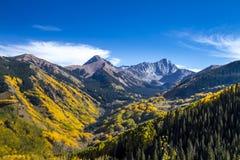 Spadków kolory w Kolorado górach Fotografia Royalty Free