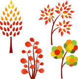Spadku drzewa ilustracje Obraz Stock