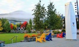 Spadku kolor w Whistler, BC, Kanada Zdjęcia Stock