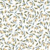 Spadku koloru żółtego wzór liście Akwareli tło dla tekstylnych lub książkowych pokryw, tapety, projekt, graficzna sztuka, druk, t ilustracji