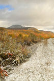 Spadku krajobraz z śniegiem Fotografia Royalty Free