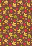 Spadku liść z Brown tła drukiem Zdjęcie Stock