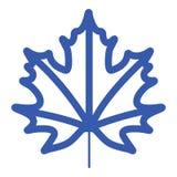 Spadku liścia ikona Fotografia Royalty Free