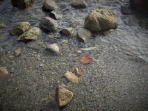 Spadku popołudnie oceanem Zdjęcie Royalty Free