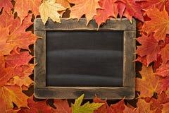 Spadku tło z chalkboard obrazy royalty free