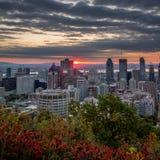 Spadku wschód słońca Zdjęcia Royalty Free
