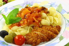 spagetti Royaltyfri Fotografi