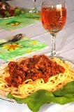 Spagetti Imagen de archivo libre de regalías