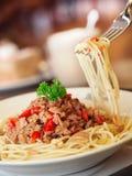 spagetti Arkivbild